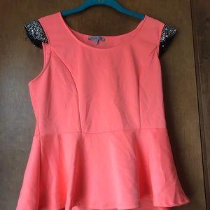 Charlotte Russe peplum waist blouse